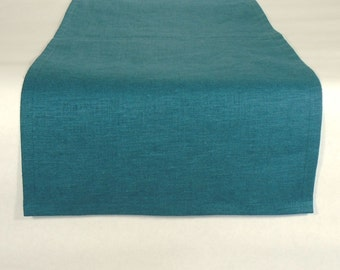 Turquoise Table Runner, Blue Table Runner, Turquoise Runner