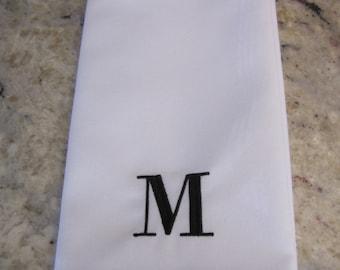 Set of 4 Dinner Napkins Matte Poly, Monogrammed Heirloom Style, Wedding, Holidays, Housewarming, Formal Dinner, Bride
