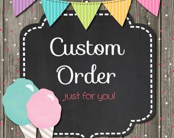 Custom Labels for LaShondra's Order