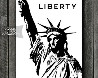 Statue Of Liberty Print - INSTANT DOWNLOAD Lady Liberty Lawyer Art - Law Office Liberty Law Poster - Attorney Print Law Decor - Lawyer Gifts