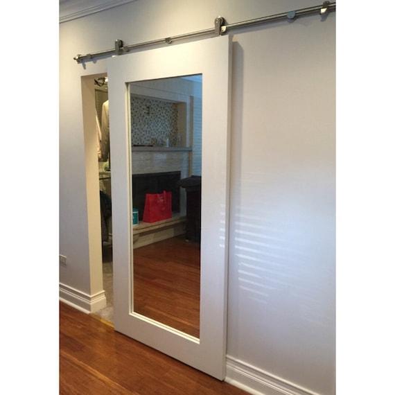 Sliding Barn Door Bathroom Privacy: Mirror Framed Sliding Barn Door By Rustic Luxe