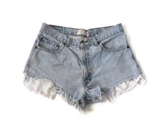 Vintage Levis Denim Cut Off Shorts