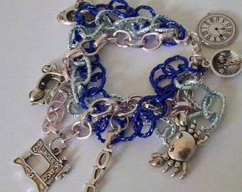 bracelet three chains with charms 2