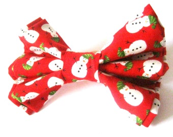 Christmas dog bow tie Snowman bow tie