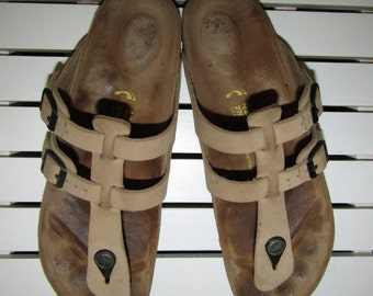 Birkenstock ~ Gladiator ~ Sandals ~ Thong Style ~ Double Buckle ~ Twin Strap ~ Vintage ~ Mint ~ Euro 42 Narrow Footbed