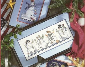 Snowmen Thru The Year Cross Stitch Booklet