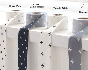 Cotton Bias Tape Cross in 2 Colors By The Panel