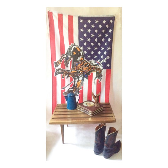 Vintage End Of Trail American Flag Wall Hanging Home Decor