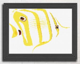 Fish Cross Stitch Pattern instant download