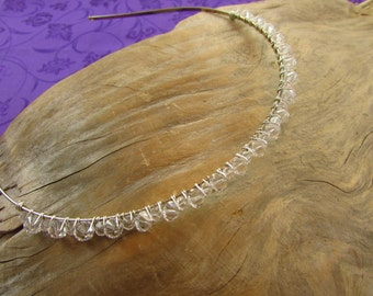 Swarovski Clear Crystal Headband/ Handmade/ Hand Crafted/ Bride/ Tierra