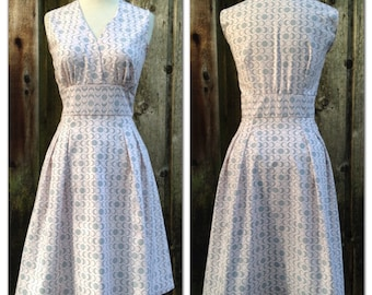 Powder Pink Moon Phases Retro Dress Made to Measure