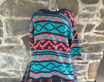 Aztec Vintage Oversized Sweater 1980s