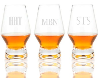 Personalized Engraved Scotch Whiskey Copita Glasses, 6 oz.  (set of 2)