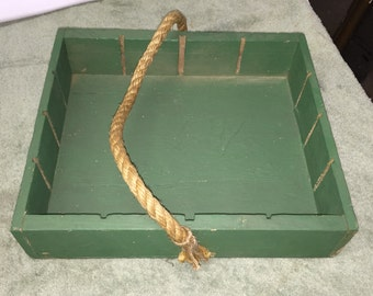 Vintage Wooden Tool Caddy