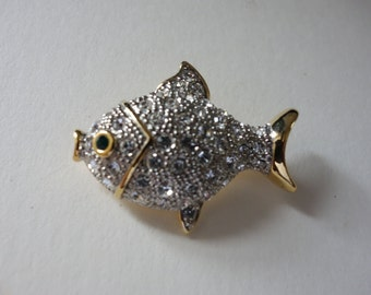 Vintage Pave fish brooch was 10.00 now 6.00