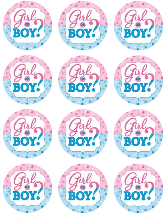 Gender Reveal Cake Topper Printable