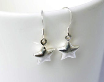 Star earrings - silver star earrings  - sterling silver star  earrings - gift for teenager - Best Friend gift