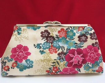 Clutch Purse, Japanese Clutch, Bridesmaid Clutch, Bridal Clutch, Bridesmaid Gift, Wedding Clutch, Japanese Purse, Gift for Her