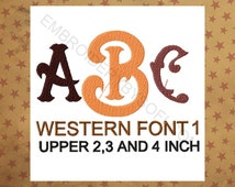 Unique Western Monogram Related Items Etsy