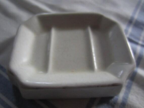 Antique Soap Dish - Vintage Soap Dish - Soap Dish - White Soap Dish- Ironstone Soap Dish- Antique Bath