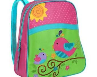 Personalized Girls Bird Backpack Girls Bird Back Pack, Birds Back pack, preschool Kindergarte backpack