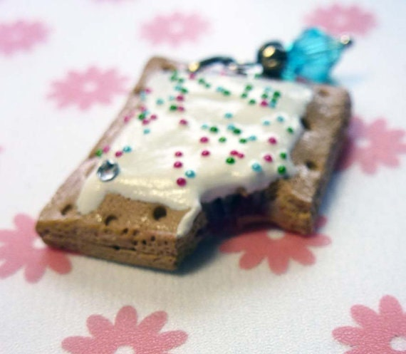 White Frosted Poptart Zipper Pull