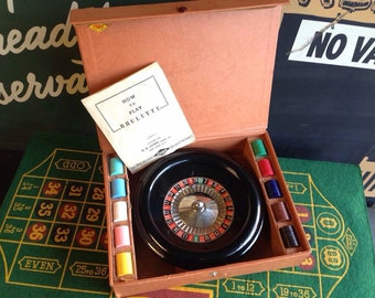 1940's Roulette Game with all the chips, instructions and pad