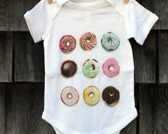 9 Little Donuts Onesie