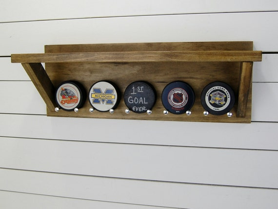 Personalized Hockey Puck Holder Amp Trophy Shelf By Pineconehome