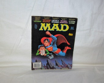 vintage july 1979 mad magazine with superman on the cover