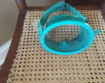 Vintage Teal Sirio Genova Made In Italy Swim Mask