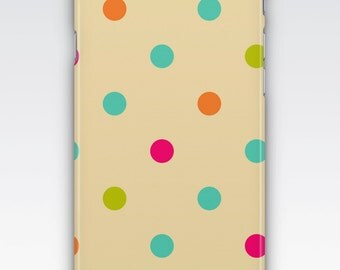Case for iPhone 8, iPhone 6s,  iPhone 6 Plus,  iPhone 5s,  iPhone SE,  iPhone 5c,  iPhone 7,  Retro Multicolour Polka Dot iPhone