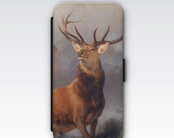 Wallet Case for iPhone 8 Plus, iPhone 8, iPhone 7 Plus, iPhone 7, iPhone 6, iPhone 6s, iPhone 5/5s - Monarch of the Glen Landseer Case