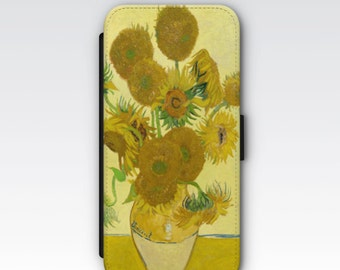 Wallet Case for iPhone 8 Plus, iPhone 8, iPhone 7 Plus, iPhone 7, iPhone 6, iPhone 6s, iPhone 5/5s  - Sunflowers Van Gogh Case