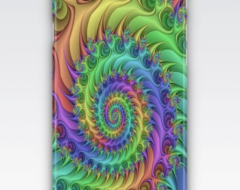 Case for iPhone 8, iPhone 6s,  iPhone 6 Plus,  iPhone 5s,  iPhone SE,  iPhone 5c,  iPhone 7  - Multicoloured Fractals Design