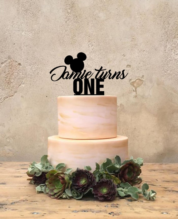 mickey mouse themed birthday cake topper