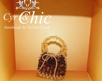 Luxury Inspired  Designer Miniature Noè Bag OPENABLE with good-luck coin
