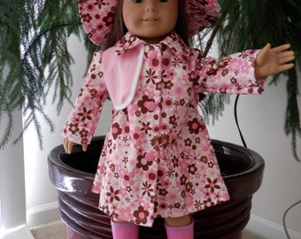 3 Piece Rain set for American Girl or other 18 inch dolls