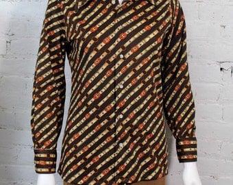 1970s Givenchy Blouse Horsebit print Equestrian Shirt top 12