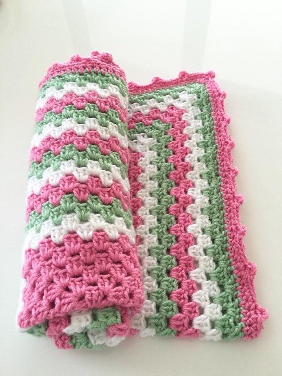 Crochet Baby Blanket, Baby Blanket, Pink Baby Blanket, Stroller Blanket Baby Lovey
