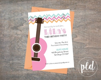 Pink Guitar Birthday Party Invigoration-5x7