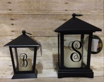 Mother's Day Gift, Candle Lanterns, Hanging Lanterns, Monogrammed Lanterns, Outdoor Lighting, Personalized Lanterns, Wedding Decor