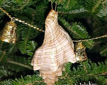 """Striped Trapezium, Fox Shell Christmas Ornaments - 3""""-4"""""""