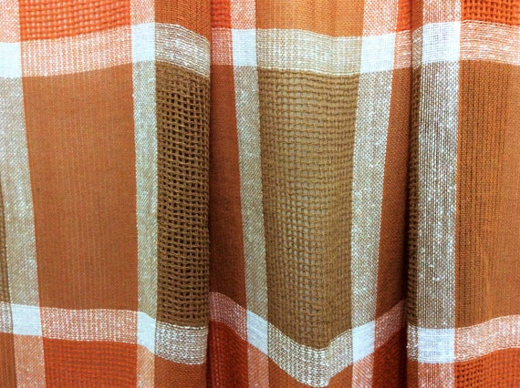 Mid Century Modern Panel Curtains See Through Curtains 1960s