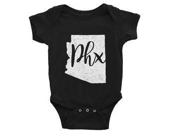Phoenix One-Piece // PHX // Arizona Bodysuit // Baby Shower Gift // Gender Neutral // Infant Gift // The Busy Bee