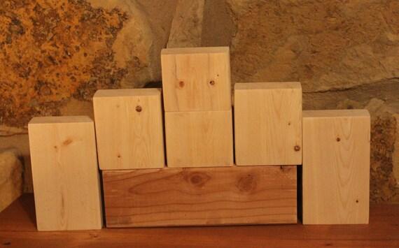 Unfinished stacking blocks unfinished wood blocks diy craft for Large wooden blocks for crafts