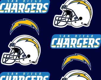 San Diego Chargers Cotton Fabric Nfl Style Sand 6281 60