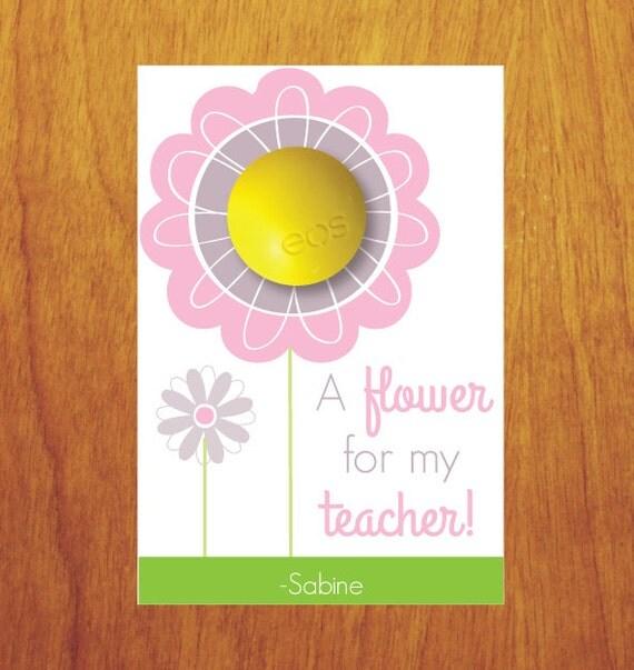 EOS Teacher Gift EOS Teacher Appreciation A Flower For My