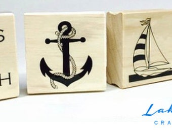 Nautical Rubber Stamps. Sailing and Boating Stamps. Seashore Rubber Stamps.