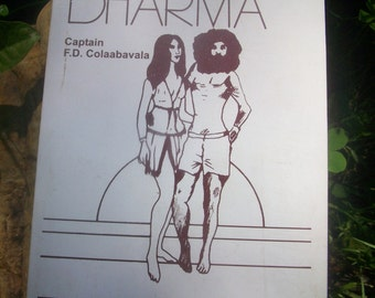 "Vintage ""Hippie Dharma"" Book Printed in India, 1974"